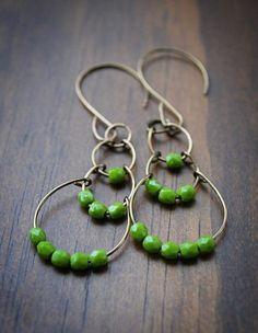 Ohrringe grün