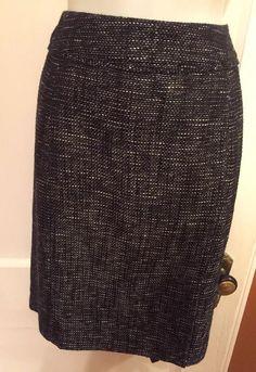 9243f71fae44f Avenue Studio Skirt Size 18 Black white metallic tweed Orig  40 B3  Avenue   Straight