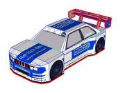 Erich Edlinger BMW 320 Paper Car Free Vehicle Paper Model Download
