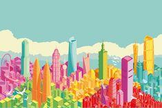 Skyline Illustrations DragonAir ( Cathay Pacific ) on Behance