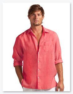 Island Company Men S C Clic Linen Shirt