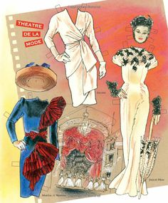 COUTURE: Victorious Fashions of the 1940s: Jim Howard, David Wolfe, Paper Dolls, Jenny Taliadoros: 9781935223917: Amazon.com: Books