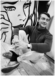 Artist Roy Lichtenstein photographed by Dennis Hopper (1964)