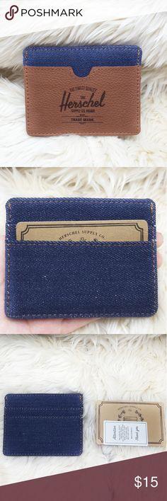 Herschel Cardholder Blue & brown Herschel Cardholder/ ID                                   •condition: NWT Herschel Supply Company Accessories Key & Card Holders