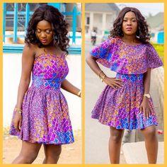 #ankaragrid #ankarashortgown #ankaragown Ankara Short Gown, Short Gowns, Kente Styles, Bridal Looks, African Fashion, Dress Skirt, Bridesmaid, Fabric, Beautiful