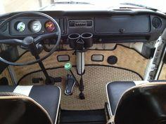 Love this Bamboo mat! Volkswagen Transporter, Vw Bus T2, Volkswagen Beetle, T3 Vw, Vw Camper, Vw Caravan, Kombi Interior, Custom Car Interior, Volkswagen Bus Interior