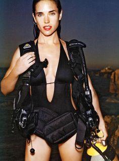 Jennifer Connelly in Scuba Gear for Vogue