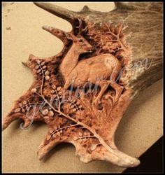 carving in antler (rezba v paroží ) Antlers, Bones, Lion Sculpture, Skull, Carving, Statue, Art, Horns, Art Background