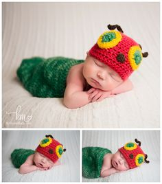 The Very Hungry Caterpillar Newborn Outfit - Newborn costume