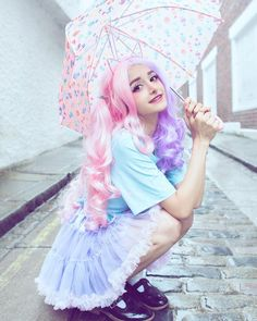 "Lolita Rainbow Kawaii Tutu Skirt SE02 Coupon code ""cutekawaii"" for 10% off"