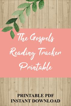 Want to read the Gospels of the New Testament? Download this beautiful printable The Gospels Reading Tracker to check off your progress as you read. Simply download, print, and start reading! Printable Worksheets, Printables, Inductive Bible Study, Gospel Reading, Reading Tracker, Packing List For Vacation, Old Testament, Getting Organized, Psalms