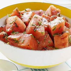 Try this recipe: Grilled Watermelon, Mint and Feta Salad. | Health.com