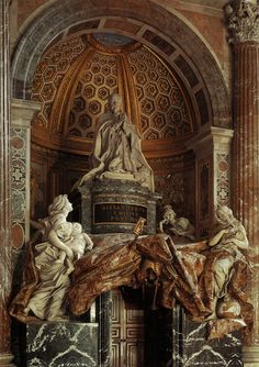 Bernini.Pope Alexander VII.tomb.from left.1671-1678.St. Peter's.Rome