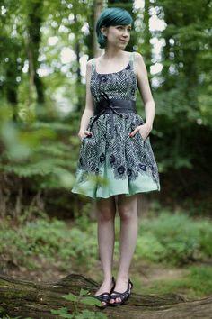Short hair + dress = not too girly