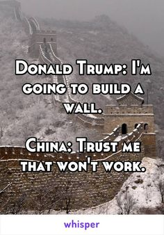 There's a reason walls have not proven effective.  Just ask China!