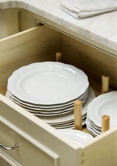 Plate Storage Drawer; Luxury Living Show Dream Kitchen 2010   Atlanta Homes & Lifestyles