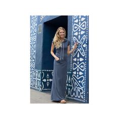 Laguna Maxi  Navy Dress found on Polyvore featuring polyvore, women's fashion, clothing, dresses, ponte knit dress, blue maxi dress, navy blue maxi dress, navy ponte dress and ponte dresses