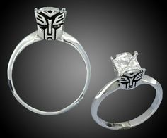 Transformers wedding rings