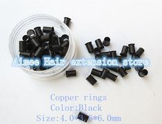 4.0*3.6*6.0mm6#Dark blond1000pcs/pack copper flared ring easily locks/copper tube micro link/ring /bead for i tip hair extension