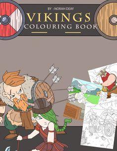 Vikings Colouring Book