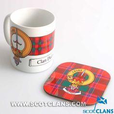 Dalziel Clan Crest Mug and Coaster Set