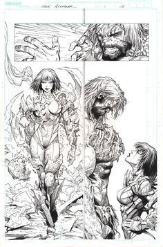 INCREDIBLE HULK #1 Page 16  - Comic Art Work By Marc Silvestri