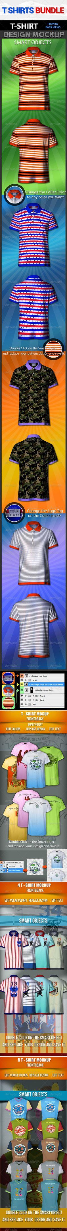 Dress UP: T-Shirts Mock-Up Bundle