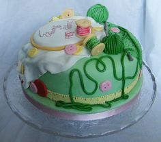 sewing & knitting cake by Curly Sue Cakes
