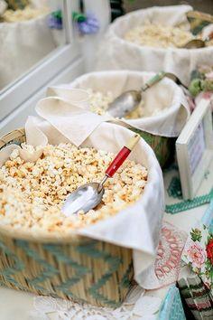 Great wedding food idea: A popcorn bar! | Brides.com