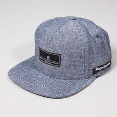 King Apparel Krest Select Pinch Panel Snapback Cap - Blue Slub Linen