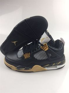 476132a94c8 Cheap Nike Air Jordan 4 Retro Wings Black Gold For Sale on  www.yoyonikejordan.