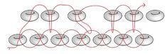 "Brick Stitch decreases - diagram from ""Beader's Companion"" via Fire Mountain ~ Seed Bead Tutorials"