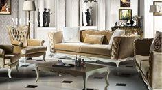 Moka Avangarde Koltuk Takımı Sofa, Couch, Accent Chairs, New Homes, Lounge, House Design, Throw Pillows, Living Room, Luxury