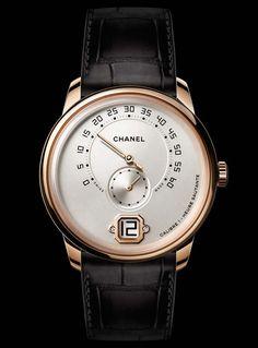 La Cote des Montres : La montre Monsieur de Chanel et son Calibre 1, premier mouvement de Haute Horlogerie in-house avec Heure Sautante et Minutes Rétrogrades