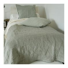 Dove Grey Stonewashed Linen Duvet Cover