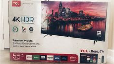 """TCL 55"""" Class 55P607 4K HDR Smart TV with Dolby Vision Roku 120Hz Unboxing. This product is for review. https://youtu.be/9FHz4yQWC0U By Chris Rauschnot http://twitter.com/24k"""