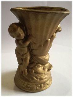Ceramic Copper/Gold Tone Vase Dimensions +/-: 145 x 132 x 120 (mm) : x x (inch) Weight +/-: 336 g : ounces Planter Pots, Arts And Crafts, Copper, Vase, Ceramics, Ornaments, Gold, Home Decor, Ceramica