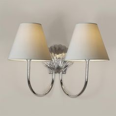 Double Saunton Bathroom Wall Light in Nickel Bathroom Candles, Bathroom Wall Sconces, Bathroom Lighting, Conservatory Lighting, Window Furniture, Modern Properties, Candle Shades, Green Bedding, Modern Wall Lights