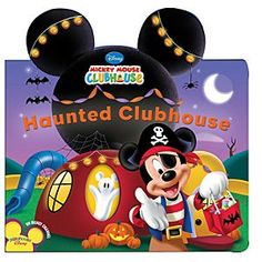 Disney Haunted Clubhouse Book - Mickey Mouse Clubhouse | Disney StoreHaunted Clubhouse Book - Mickey Mouse Clubhouse - Join Mickey Mouse and pals for the silliest spooktacular Halloween adventure when they rush to turn the Clubhouse into the spookiest haunted house ever. This boardbook is page after page of haunting fun.