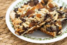 Toffee macaroon matzo bars from Coconut & Lime by Rachel Rappaport