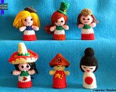 Bamboline Bandierine - Mondo - Nazioni - Bandiere - amigurumi - portachiavi - Flag Doll - World - Nations - Flags - amigurumi - keychain