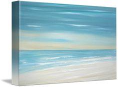 blue Beach ocean coastal tropical seascape painting