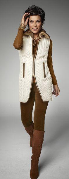 Best Vest: the new longer length. #chicossweeps