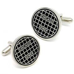 funny Chicago sewer cufflinks
