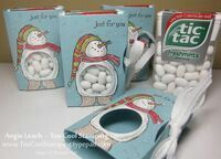 Snow Much Fun Tic Tac Holder by Angie Leach - Cards and Paper Crafts at Splitcoaststampers Stampin Up Christmas, Noel Christmas, Christmas Projects, All Things Christmas, Winter Christmas, Holiday Crafts, Christmas Favors, Christmas Parties, Snow Much Fun