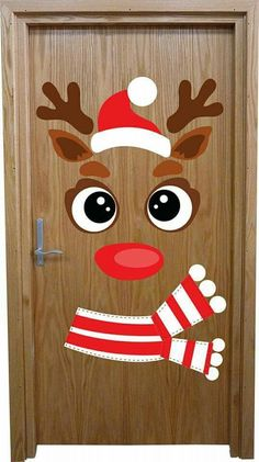 How to make super simple Christmas decorations on a budget - snowman doors # . - How to make super simple Christmas decorations on a budget – snowman doors # …, # - Christmas Door Decorating Contest, Office Christmas Decorations, Christmas Crafts For Kids, Xmas Crafts, Simple Christmas, Christmas Ornaments, Decoration Creche, Christmas Classroom Door, Theme Noel