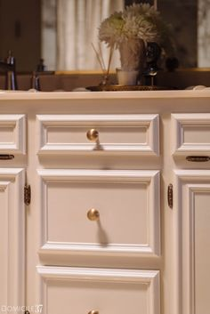 Adding the Much Needed Bling to a Remodel - Domicile 37 Gothic Bathroom, Bathroom Doors, Grey Wall Tiles, Grey Walls, Brass Cabinet Hardware, Design A Space, Studio Green, The Tile Shop, Built In Bookcase