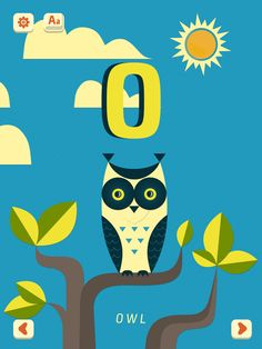 'O - Owl' from Mini-U: ZOO Alphabet by PopAppFactory