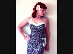 Simple Pin Up Hairstyle-Inspired by Whirling Turban and Their 'Hawaiian Heaven' Dress Design--- Lisa has a lot of great tutorials for vintage hair, product review, fashion and make-up. I have been following her channel for years. check it out! ~J