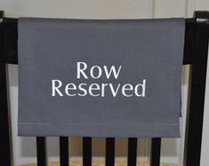 Pew Reserved Sign for Reserved Seating in Church Theater Reserved Seating, Reserved Signs, Auditorium, Church Ideas, Special Guest, Theater, Messages, Chair, Fabric
